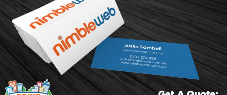 Categories business cards archive print town this is a business card we created for nimbleweb it is printed double sided on a 360gsm premium gloss artboard this card was matt laminated on both sides reheart Choice Image